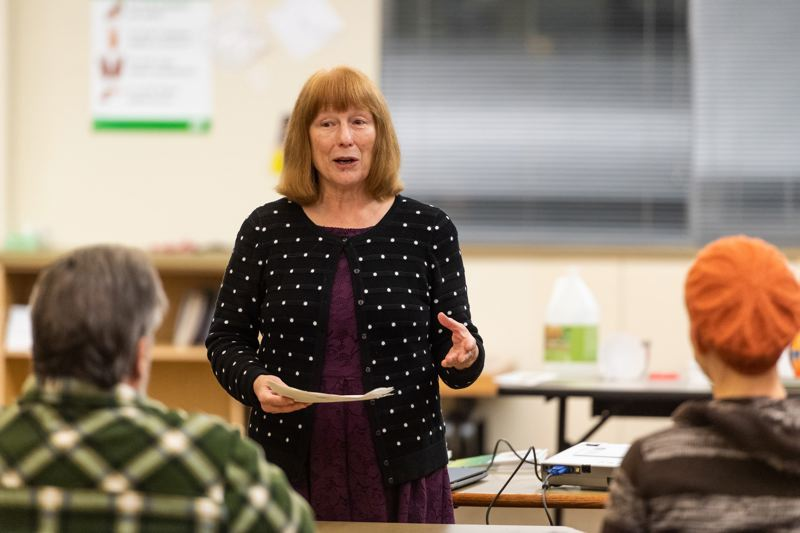 PMG FILE PHOTO - State Rep. Susan McLain, D-Forest Grove, speaks at a CPO 12C meeting at Free Orchards Elementary School in Cornelius before the 2019 legislative session.