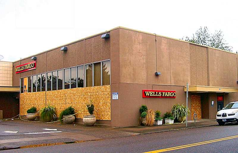 RITA A. LEONARD - Fifteen windows at the Westmoreland Branch of Wells Fargo Bank were severely damaged on October 12.