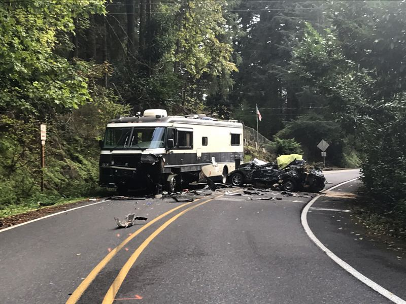 COURTESY PHOTO: MULTNOMAH COUNTY SHERIFFS OFFICE - A two-vehicle crash near Troutdale led to the deaths of two teenagers.