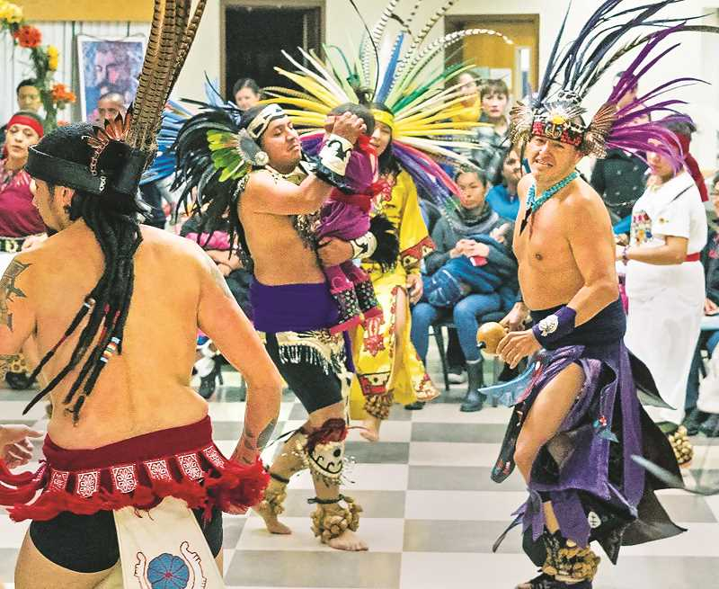 PMG FILE PHOTO - The Huehca Omeyocan Aztec dance troupe will perform the CCC's Day of the Dead event.