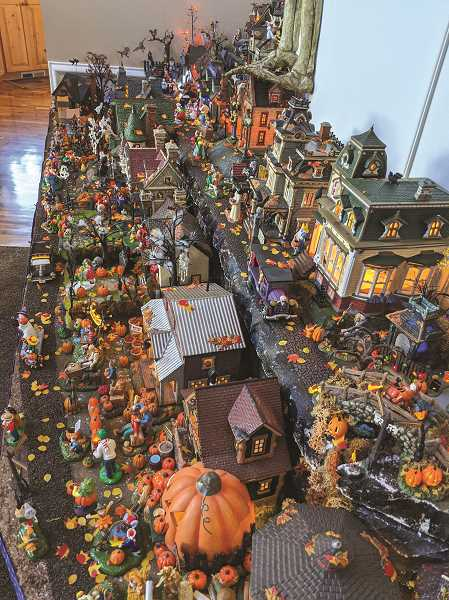 PMG PHOTO: JOHN BAKER - A small portion of the many Halloween pieces in the Saty's collection.