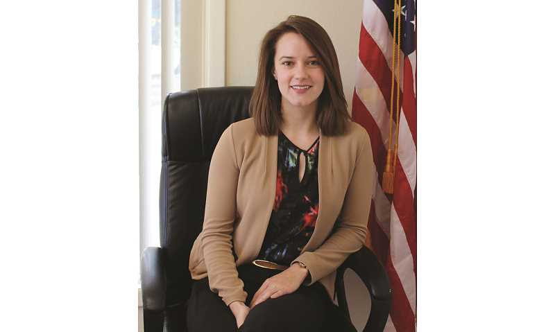 HOLLY SCHOLZ/MADRAS PIONEER   - Lauren Kauffman recently joined the Law Office of Jered Reid as an associate attorney.