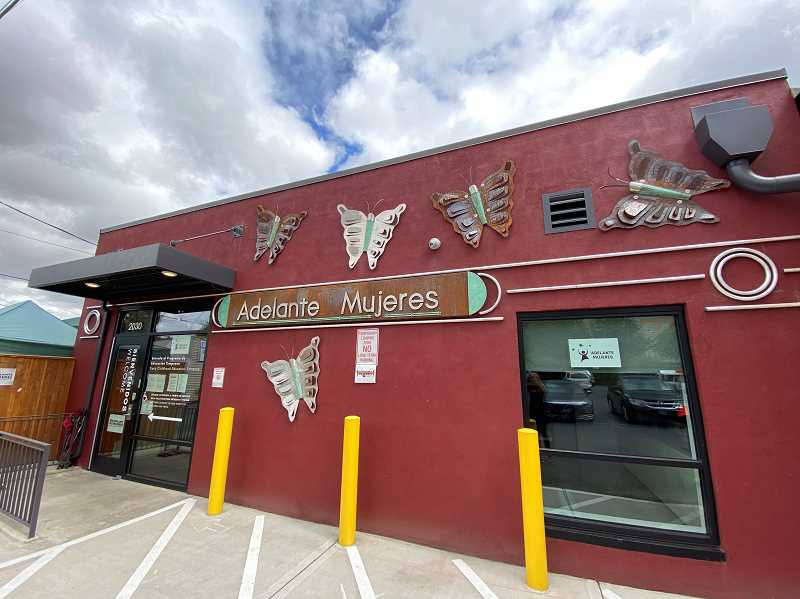 COURTESY PHOTO - The rear entrance to Adelante Mujeres on Main Street in Forest Grove following it's recently completed renovation.