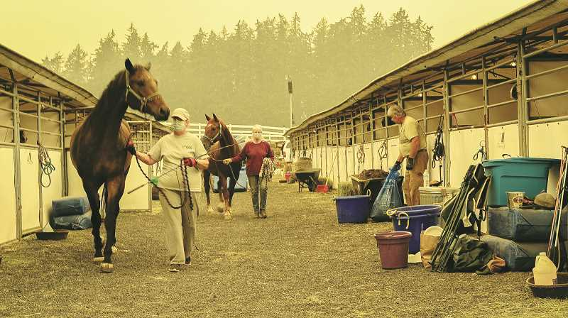 PMG FILE PHOTO - After playing an integral role in keeping animals safe and fed during the Chehalem Mountain-Bald Peak Fire, the DevonWood Equestrian Centre is now cleaning up and expressing its gratitude to community partners.
