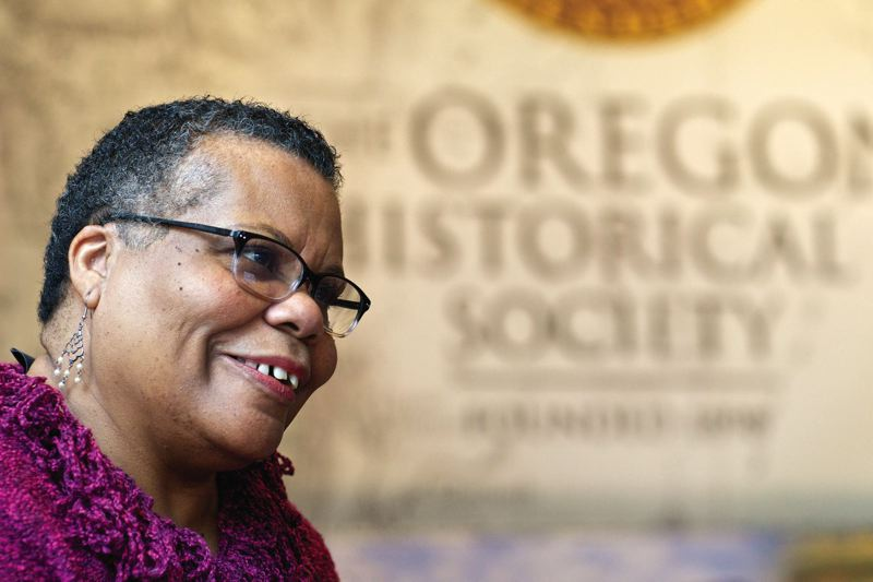 TRIBUNE PHOTO: JAIME VALDEZ - Gwen Carr, a leader of Oregon Black Pioneers, is the co-leader of the new black history exhibit at the Oregon Historical Society Museum.