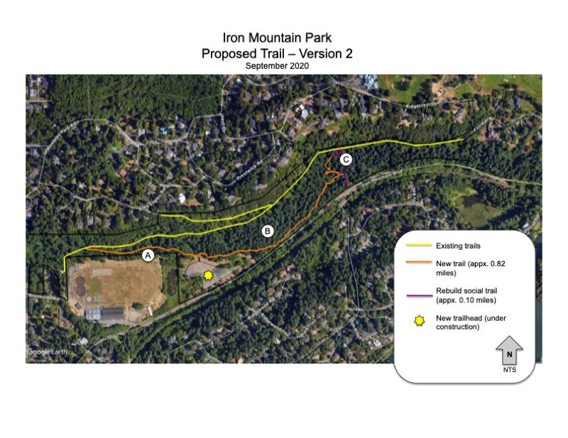 COURTESY PHOTO: CITY OF LAKE OSWEGO - A conceptual image of the trail alignment.