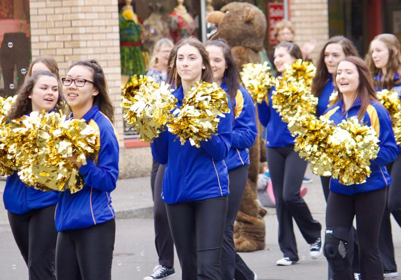 PMG FILE PHOTO - Cheerleaders are a popular draw at Greshams annual Teddy Bear Parade, which was canceled this year, much to the disappointment of parade goers and volunteers alike.