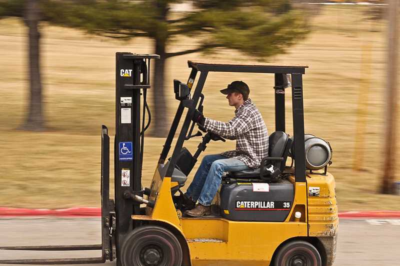 (Image is Clickable Link) COURTESY PHOTO - Molalla High School has received the gift of a forklift from the Oregon Ice Cream Co. (This is a stock image of a forklift and not necessarily representative of the gift received).