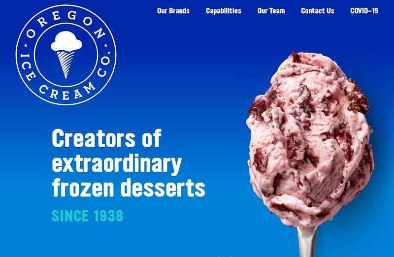 OREGON ICE CREAM CO. - The Oregon Ice Cream Co. owns the brands Alden's Organic and Cascade Glacier.