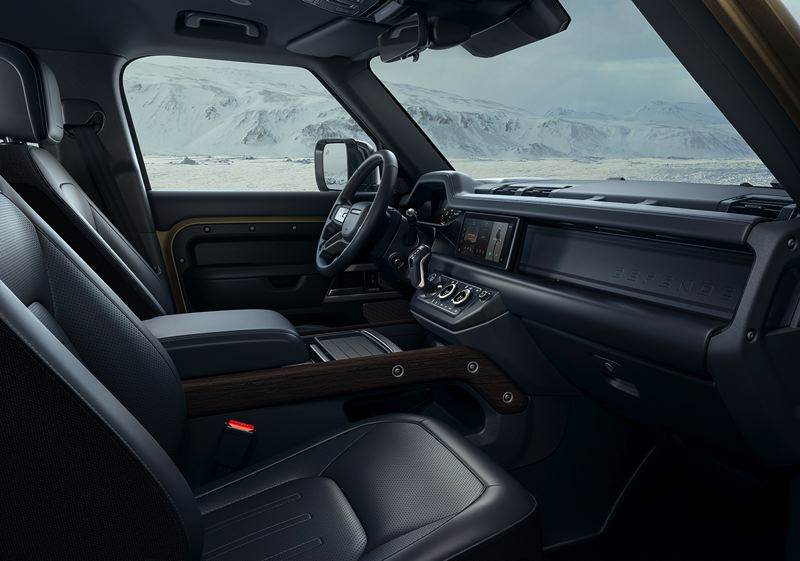 COURTESY LAND ROVER/HAVAS FORMULA - The interior of the 2020 Land Rover Defender 100 is clean without being spartan.