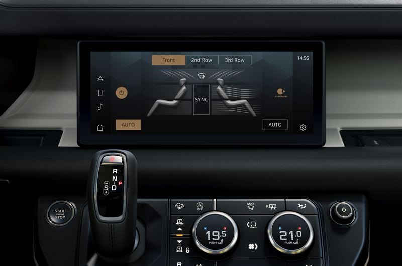 COURTESY LAND ROVER/HAVAS FORMULA - A 10-inch dispaly it at the heart of the infotainment system in the 2020 Land Rover Defender 110.