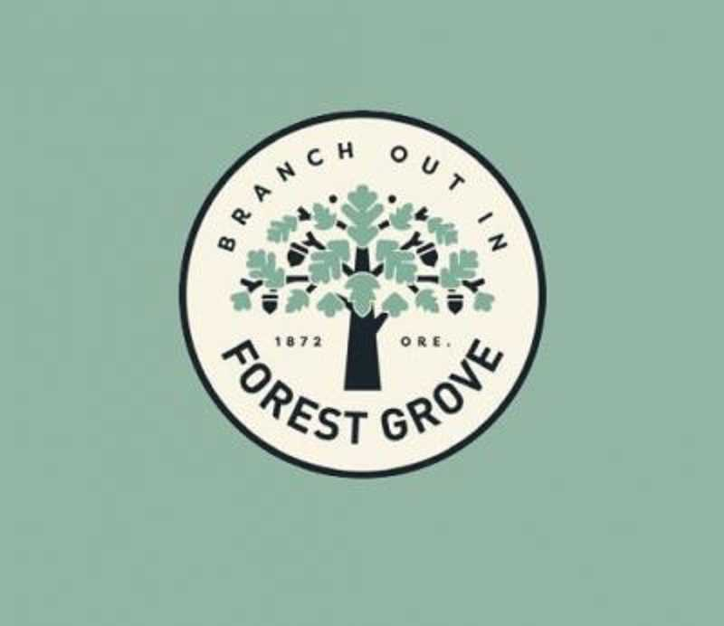 COURTESY PHOTO - Forest Grove's new logo and tagline., Forest Grove News-Times - News Council approves 'Branch Out In Forest Grove,' as new tagline in an effort to increase tourism and overnight stays. Forest Grove City Council adopts new tourism brand