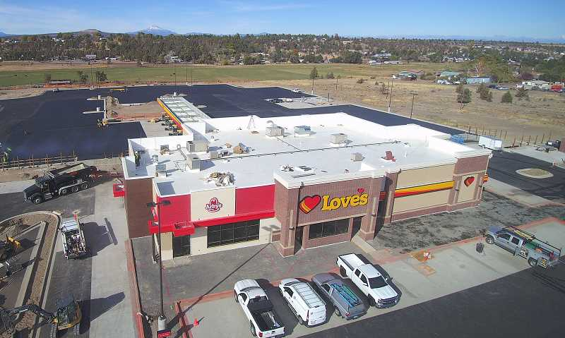 TOM BROWN PHOTO   - The Love's Truck Stop in south Madras is expected to open the first week of November. They plan to employ 80 people.
