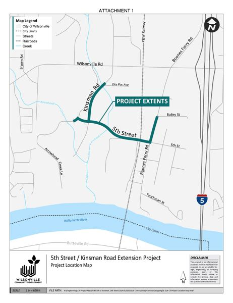 COURTESY PHOTO: CITY OF WILSONVILLE - The project will provide a connection between Boones Ferry Road and Kinsman Road.