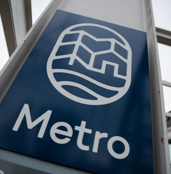 PMG FILE PHOTO - The Metro logo at the headquarters of the elected regional government.