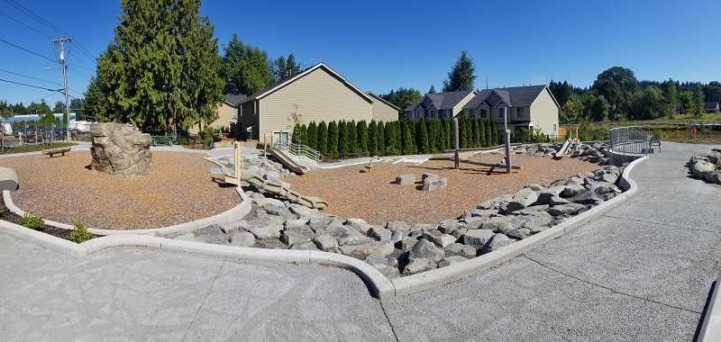PHOTO COURTESY: NCPRD - A playground area at the new park in Jennings Lodge opened to the public on Oct. 19.
