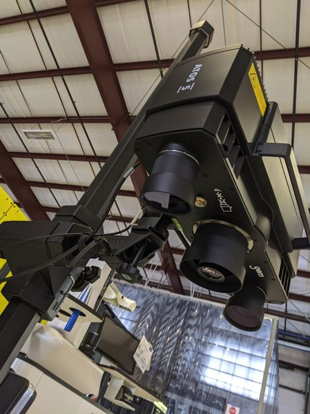 PMG: JOSEPH GALLIVAN - A blue light scanner at OMIC's R&D center in Scappoose.