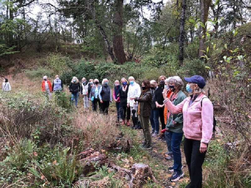 SUBMITTED PHOTO - Members of the Portland Garden Club visit Nob Hill Nature Park.
