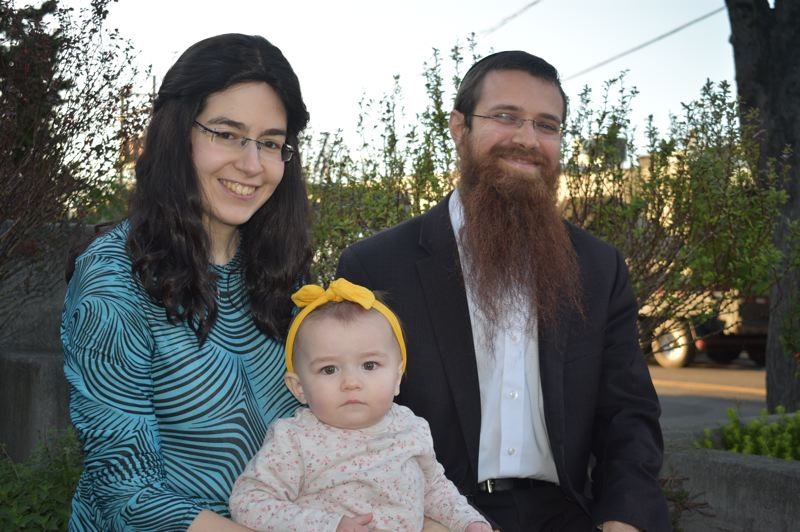 PMG PHOTO: TERESA CARSON - Rabbi Avrohom Moshe Dyce, his wife Cheina and daughter Mushka have been visiting families in East Multnomah County in hopes of organizing local Jewish programming.