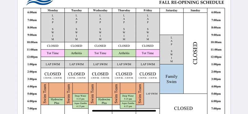 (Image is Clickable Link) COURTESY PHOTO - The pool schedule is available online at molallaaquaticcenter.com.