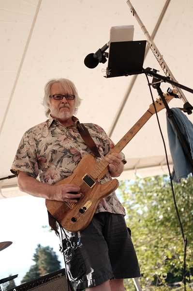 COURTESY PHOTO: HAMID SHIBATA BENNETT - Jimmy Lashbrook a couple of years ago played at Milwaukie Bay Park for an event cohosted by the city and parks district for the public to weigh in on parks planning.