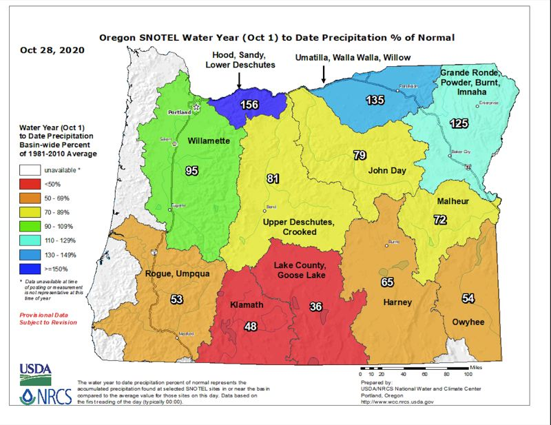 COURTESY PHOTO: OREGON SNOW SURVEY - Early water year precipitation levels look good, but USDA hydrologist Scott Oviatt warns those numbers could be giving false hope.