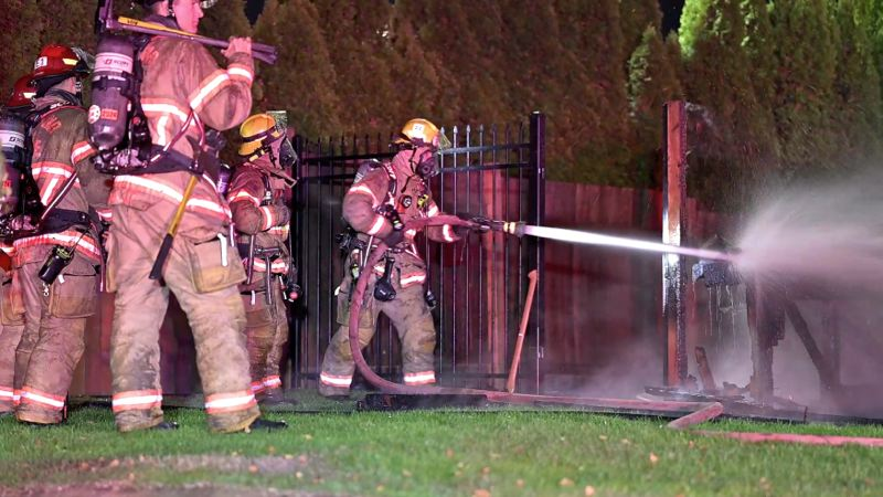 KOIN 6 NEWS - Portland firefighters battle blaze at Northeast Portland church early Saturday.