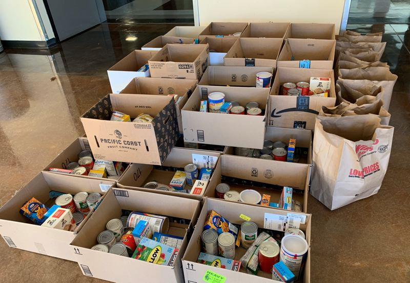COURTESY PHOTO: WEST LINN-WILSONVILLE SCHOOL DISTRICT - The Family Empowerment Center offers food donations to families that need it.