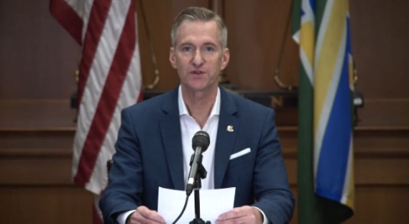 SCREENSHOT - Portland Mayor Ted Wheeler addressed the public during a virtual press conference on Wednesday,  Nov. 4 at City Hall.