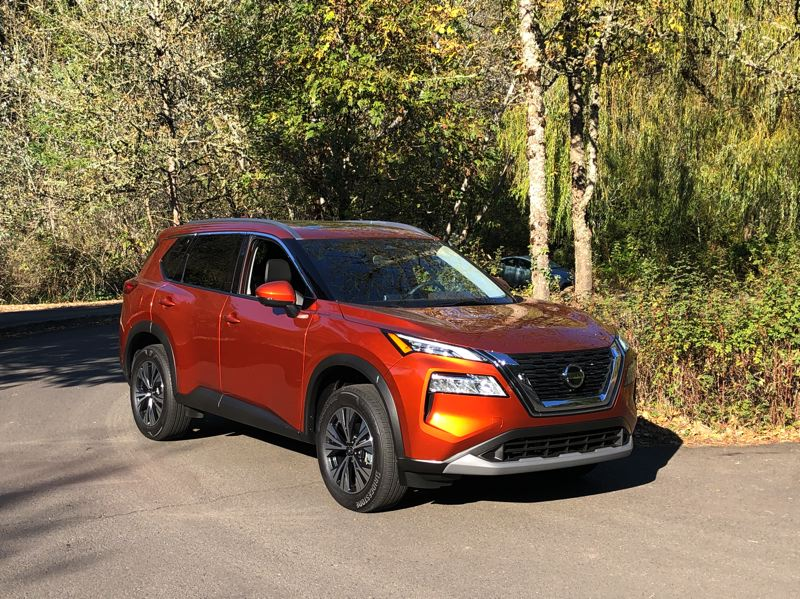 PMG PHOTO: JEFF ZURSCHMEIDE - Everything is new for Nissan Rogue this year, including an all-new chassis platform, new technology for safety and connectivity, a new powertrain, new steering and rear suspension, new exterior and interior designs, and a new luxury trim.