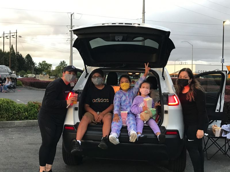 COURTESY PHOTO  - Community members at the Gordon Faber Recreation Complex, where Hillsboro created drive-in movie events in August and September as a pandemic modification to the city's annual Pix in the Park series.