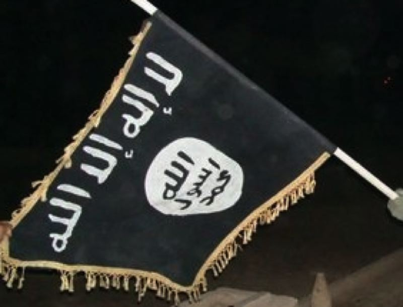 PUBLIC DOMAIN - The flag for the terrorist group known as ISIS is shown here.