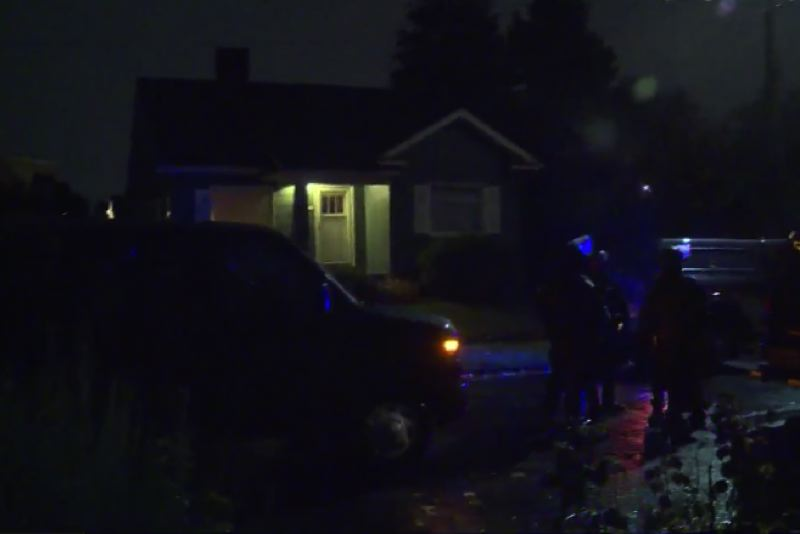 COURTESY PHOTO: KOIN 6 NEWS - The scene outside Commissioner Dan Ryan's home Thursday night.