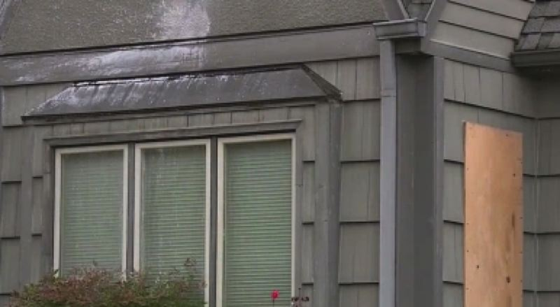 COURTESY PHOTO: KOIN 6 NEWS - Damage to Commissioner Dan Ryan's home.