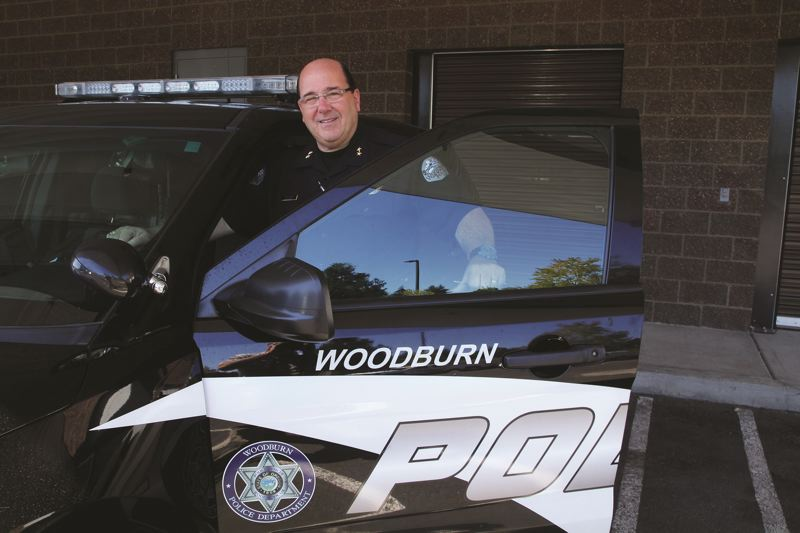 PMG FILE PHOTO - Jim Ferraris says his five years as the Woodburn police chief were the 'highlight of my career.'