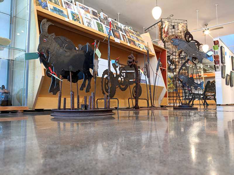 COURTESY PHOTO - A group of outdoor sculptures on display at Valley Art in Forest Grove.