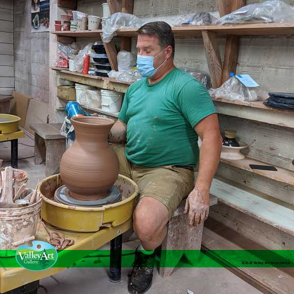 COURTESY PHOTO - Valley Art pottery instructor Bob Hackney at work in the pottery studio at Valley Art in Forest Grove.