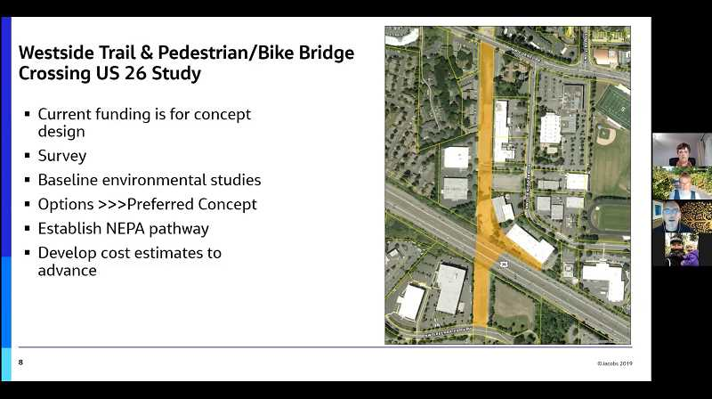 COURTESY PHOTO: TUALATIN HILLS PARK & RECREATION DISTRICT/YOUTUBE - The Tualatin Hills Park & Recreation District had a virtual community meeting on Tuesday, Oct. 20, to discuss the Westside Trail Bridge project.