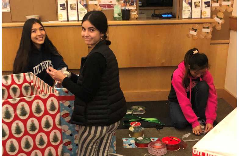 FILE PHOTO - Students decorate gift box receptacles in preparation for last year's Operation Rudolph. The pandemic has not stopped the community effort this holiday season. Donation boxes will be put in local businesses in late November.