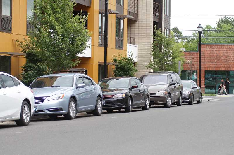 PMG PHOTO: WADE EVANSON - The curb on Second Street in Beaverton is where tenants at the Barcelona Apartments in Beaverton are trying to secure ADA parking.