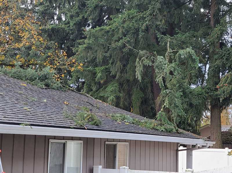COLUMBIA RIVER FIRE AND RESCUE - Homes in St. Helens were damaged by a small tornado on Monday, Nov. 10.