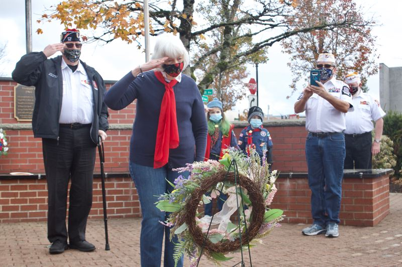 PMG PHOTO: CHRISTOPHER KEIZUR - Gresham held its annual Veterans Day ceremony to honor those who have served in the military and on the frontlines of the COVID-19 pandemic.
