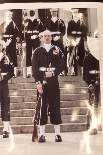 COURTESY PHOTO: JEREMY BUCK - Jeremy Buck served in the U.S. Navy Ceremonial Guard for two and half years.