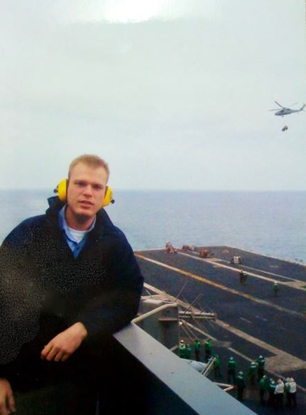 COURTESY PHOTO: JEREMY BUCK - At the end of his naval career, Jeremy Buck was stationed aboard the USS John C. Stennis.