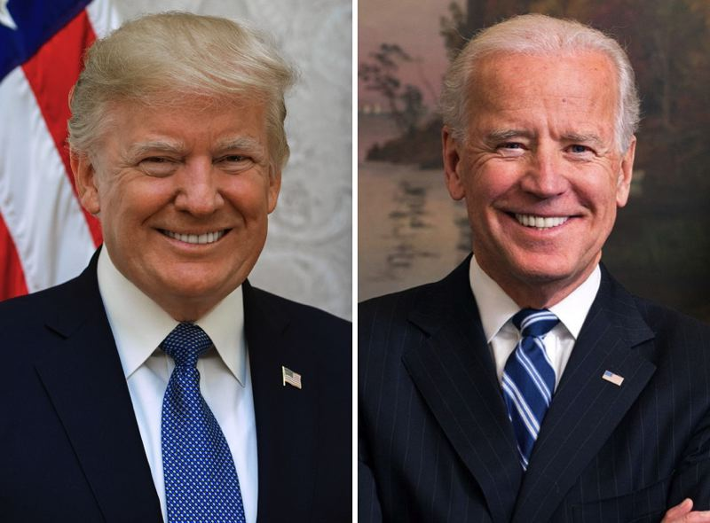 FILE - President Donald Trump and Vice President Joe Biden are shown here.