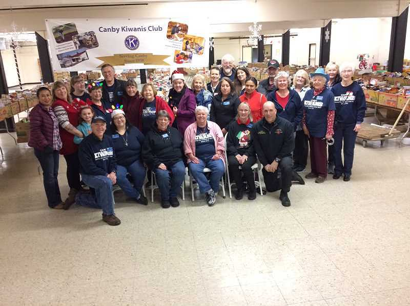PMG FILE PHOTO - Canby Kiwanis holds the food and toy drive every year, furnishing the volunteers to make it happen.
