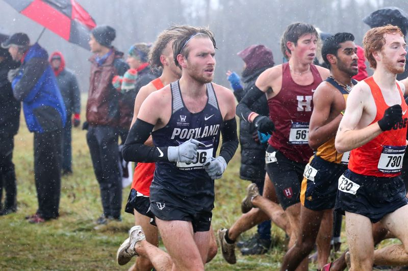 COURTESY PHOTO: PORTLAND ATHLETICS - Riley Osen from Winfield, Kansas, weathered cold conditions to help Portland place 10th at the 2019 NCAA Division I Cross Country Championships at Terra Haute, Indiana.