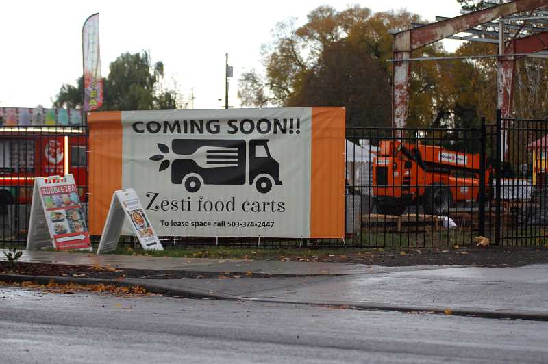PMG PHOTO: WADE EVANSON - Zesti Food Carts on Yew Street in Forest Grove is building towards a Dec. 1 opening.