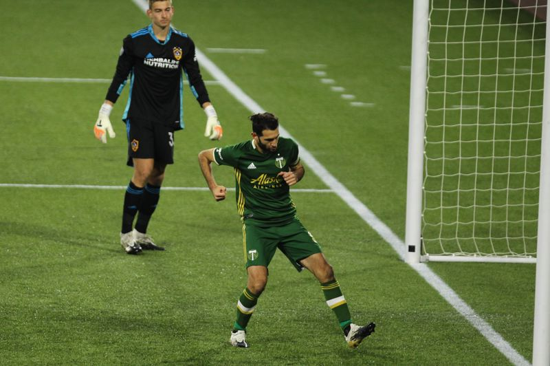 PMG PHOTO: JAIME VALDEZ - Rather than slowing down, Diego Valeri has given the Timbers plenty of fist-pumping moments in 2020.