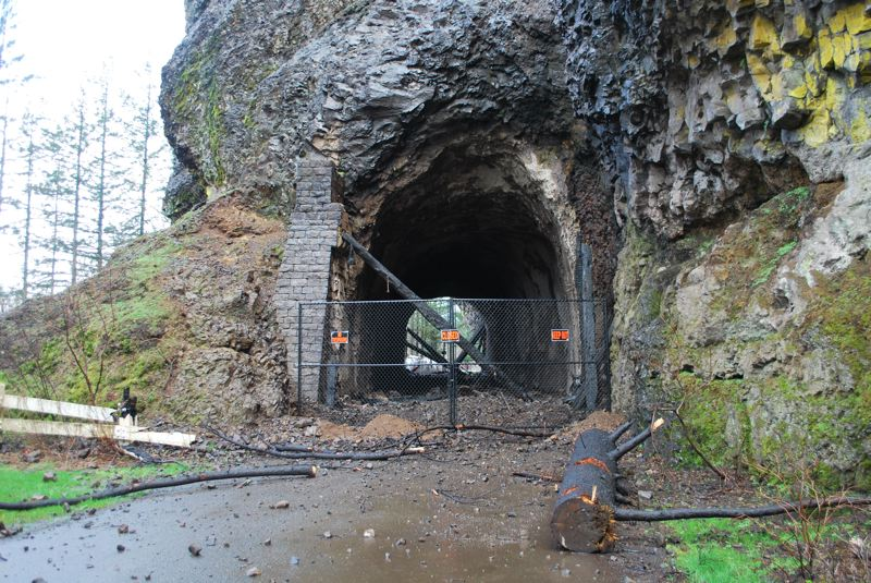 COURTESY PHOTO: ODOT - Work has begun to restore the Oneonta Tunnel after it was damaged by the Eagle Creek Fire.